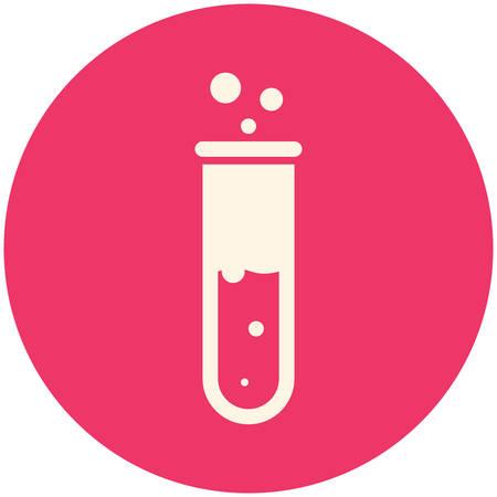 red tube: Tubo de ensayo, icono plana moderna Vectores