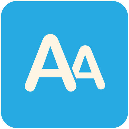 large size: Font size, modern flat icon