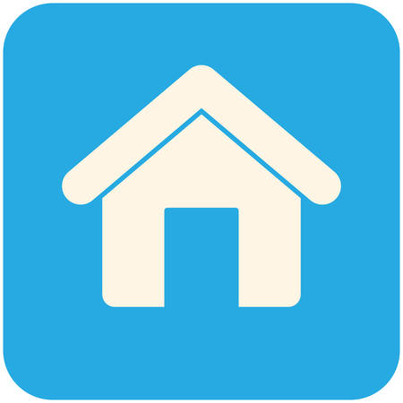 Home, modern flat icon Vector