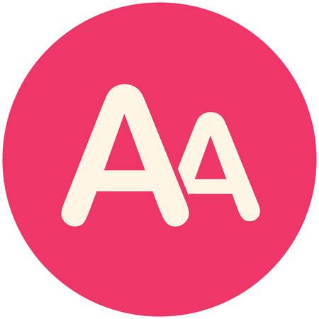 size: Font size, modern flat icon