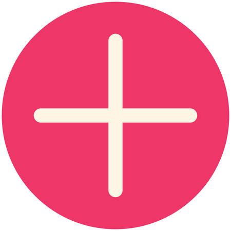 plus symbol: Plus, modern flat icon Illustration
