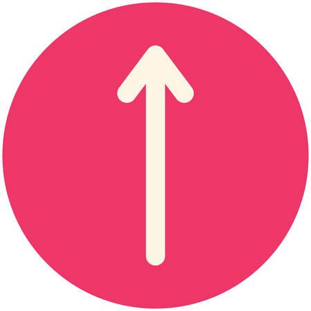 up arrow: Up Arrow, modern flat icon