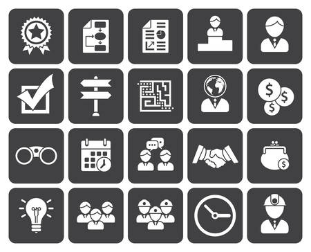 business decisions: Business icons (modern flat design) Illustration