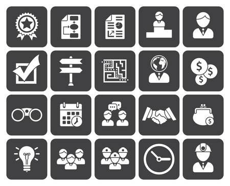 Business icons (modern flat design) Illustration