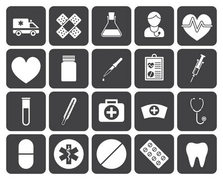 enfermera con cofia: Iconos médicos (diseño moderno apartamento)