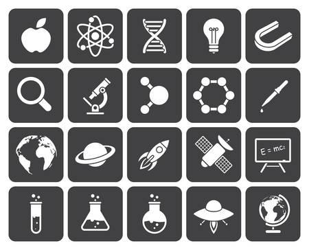 Science icons (modern flat design) Reklamní fotografie - 35016238