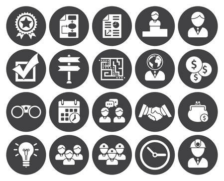 Business icons (modern flat design) Illustration