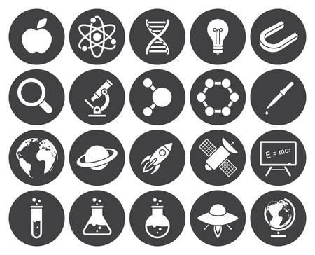 magnifying glass icon: Science icons (modern flat design)