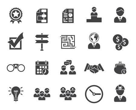 office use: Business icons (modern flat design) Illustration