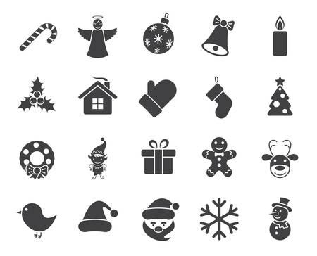 Christmas icons (modern flat design) Vector