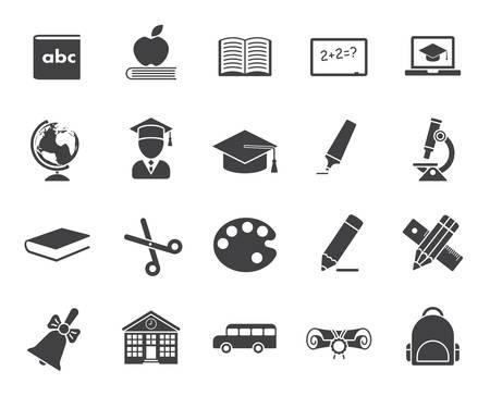 writing lines: Education icons (modern flat design) Illustration