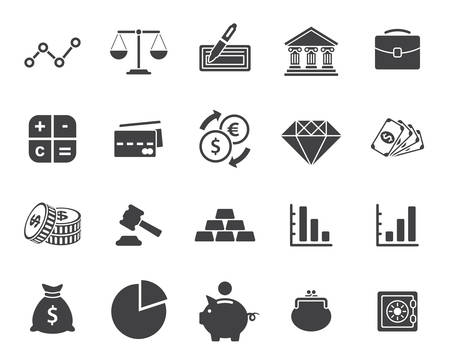 Finance icons set (modern flat design)
