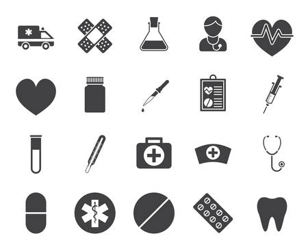phonendoscope: Medical icons (modern flat design)