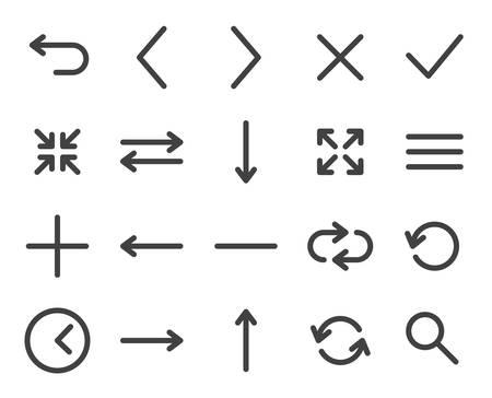 Web icons (modern flat design) Vector