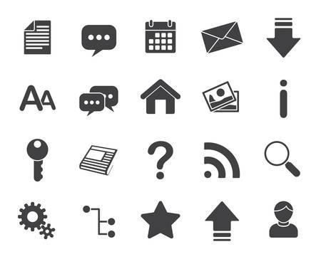 Web icons (modern flat design)