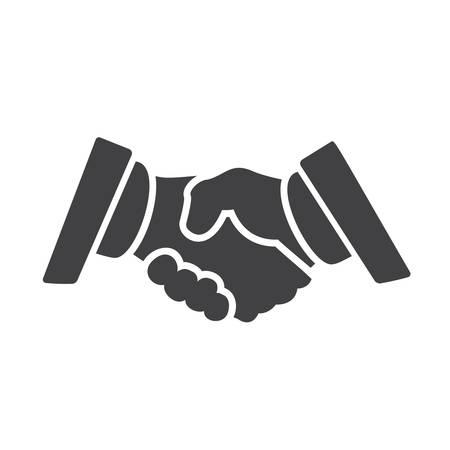 professional relationship: Partnership  icon, flat design