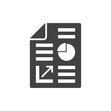 report: Business report icon, flat design