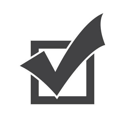 simbolo: Completado icono Tareas, diseño plano Vectores