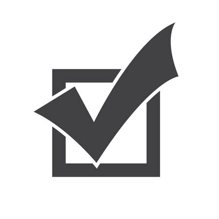 check: Completed Tasks icon, flat design Illustration