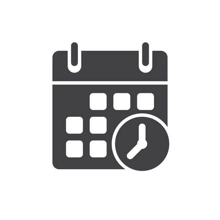 clock icon: Meeting Deadlines icon, flat design
