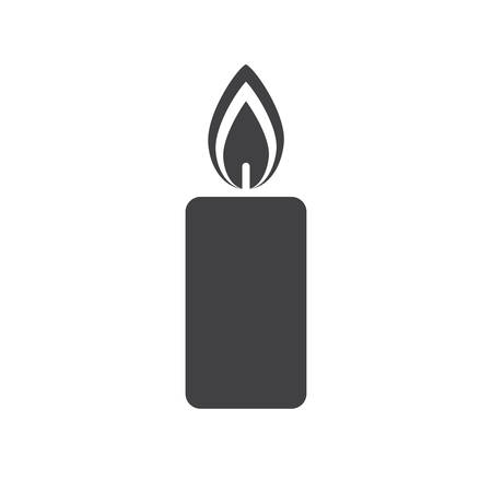 white candle: Christmas candle icon (flat design)