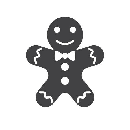 gingerbread: Gingerbread man icon (flat design)