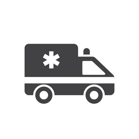 ambulance car: Ambulance car, modern flat icon