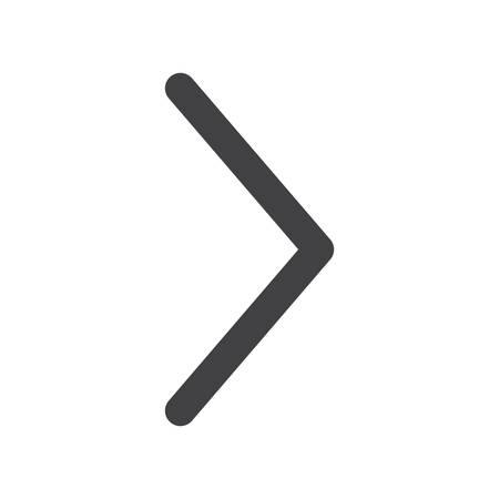 Pijl naar rechts, moderne platte pictogram