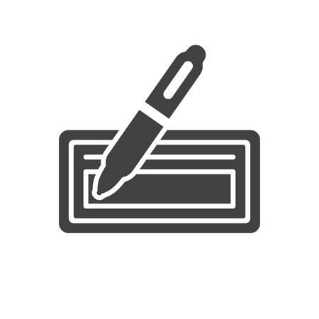 Bankcheque icoon (platte design)