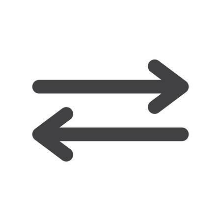 flechas curvas: Exchange, icono plana moderna Vectores