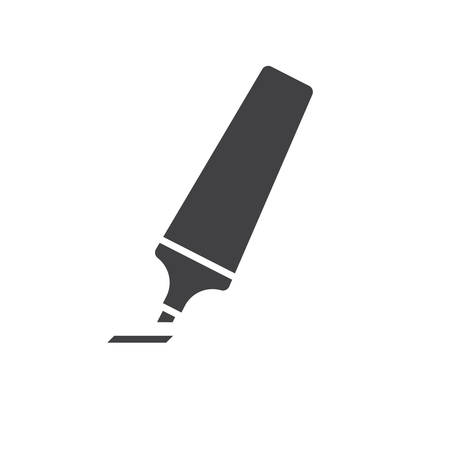 pen and marker: Marker pen, modern flat icon