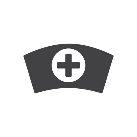 Nurse cap, modern flat icon 向量圖像