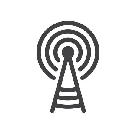 transmitter: Transmitter tower icon (flat design)