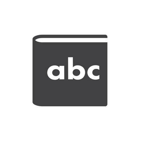 childrens book: Alphabet book, modern flat icon