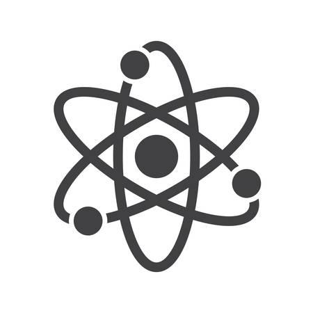 atom symbol: Atom, modern flat icon Illustration