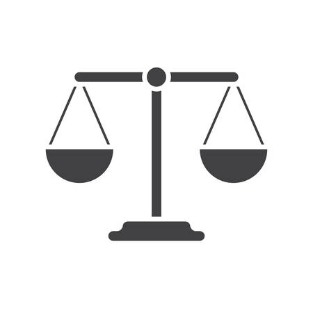 balanza: Icono del balance (diseño plano)
