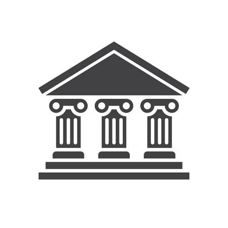 Bank icon (flat design) Illustration