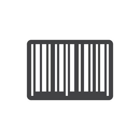 barcodes: Barcode icon, modern flat design