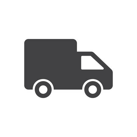 Delivery icon, modern flat design