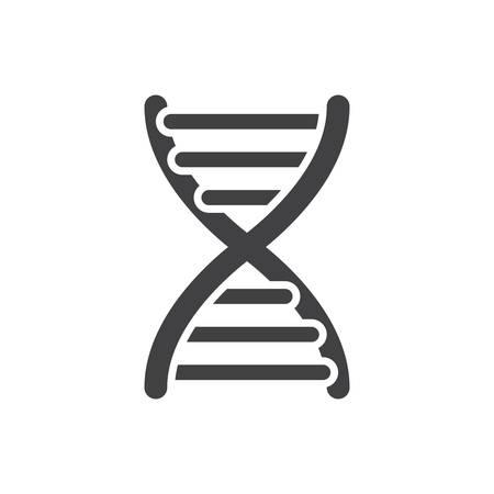 medical art: DNA, modern flat icon