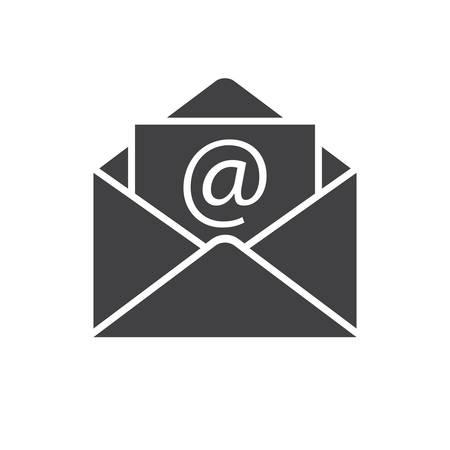 Icono de correo electrónico (diseño plano) Foto de archivo - 35162137