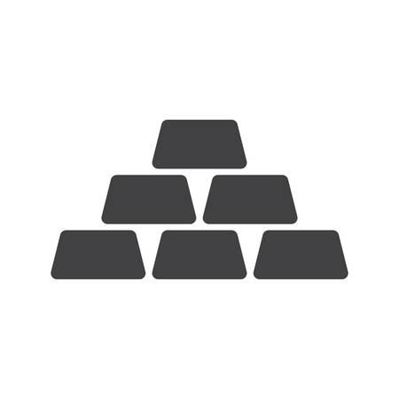 gold bars: Golden icon icon(flat design) Illustration