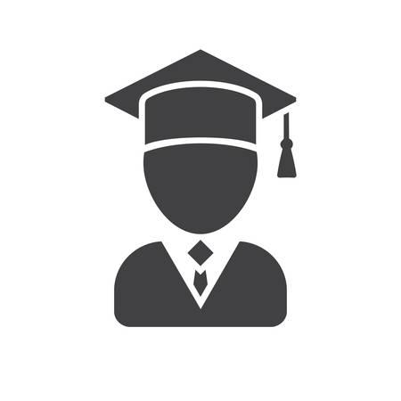 Graduate, modern flat icon Illustration