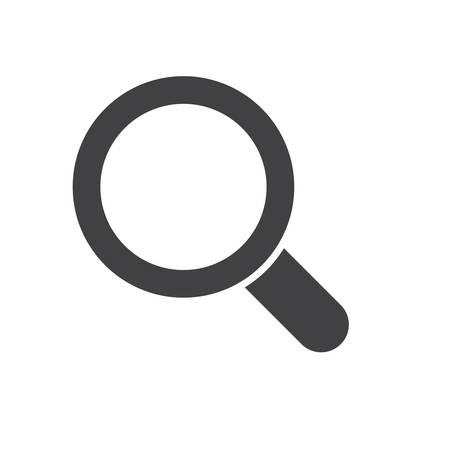 Magnifying glass, modern flat ico