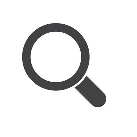Magnifying glass, modern flat ico