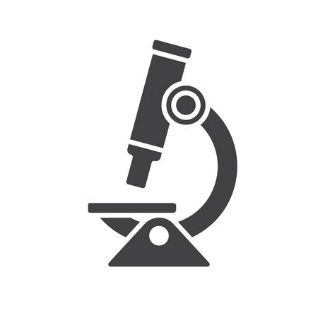 research: Microscope icon, modern flat icon