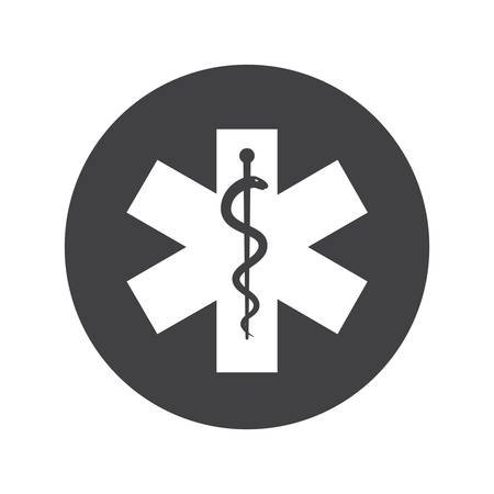 Star of Life, modern flat icon