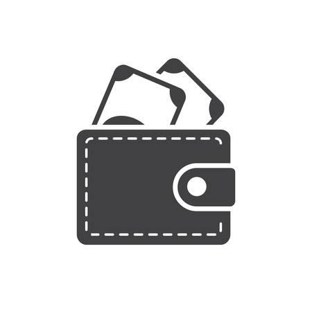 財布アイコン、モダンなフラット デザイン