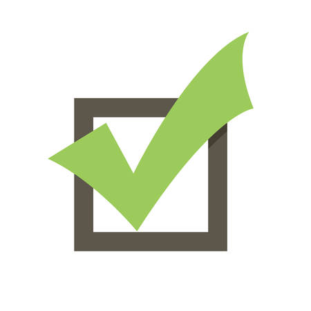 Completed Tasks, modern flat icon Vettoriali