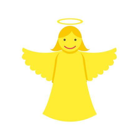 christmas angels: Christmas angel icon (flat design)